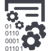 003-data-management-interface-symbol-with-gears-and-binary-code-numbers